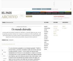Un mundo distraído. Entrevista a Nicholas Carr en el diario El País