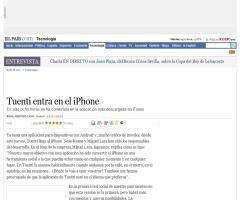 Tuenti entra en el iPhone · ELPAÍS.com