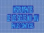 Cantigas de Santa María e instrumentos musicales medievales