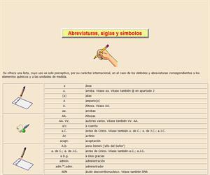 Abreviaturas, siglas y símbolos