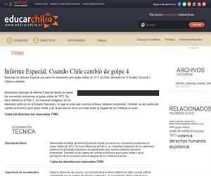 Informe Especial. Cuando Chile cambió de golpe 4 (Educarchile)
