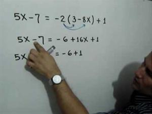 Solución de una ecuación lineal con una incógnita (JulioProfe)
