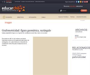 Grafomotricidad: figura geométrica, rectángulo (Educarchile)