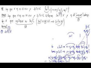 Definición de suma de subespacios y propiedad