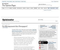¿Pueden los micropagos salvar a los periódicos? (The New York Times)