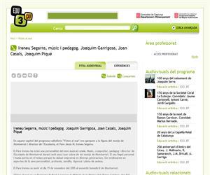 Ireneu Segarra, músic i pedagog. Joaquim Garrigosa, Joan Casals, Joaquim Piqué (Edu3.cat)