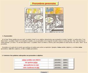 Pronombres personales (teoría y ejercicios)