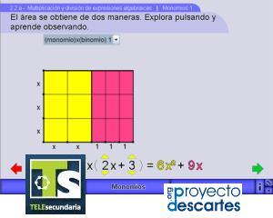 Multiplicación y división de expresiones algebraicas