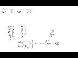 Resta de números racionales