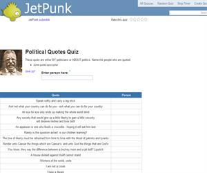 Political Quotes Quiz