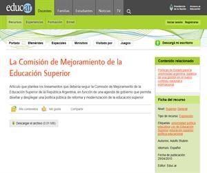 La Comisión de Mejoramiento de la Educación Superior (Argentina)