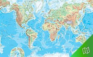 Mapa físico del mundo escala  1:60.000.000