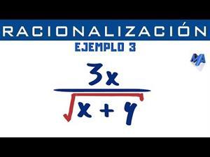 Racionalización de denominadores | Ejemplo 3 Monomio
