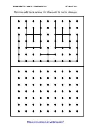 Motricidad fina con puntos tres niveles y simétricos