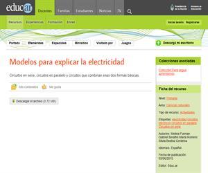 Modelos para explicar la electricidad