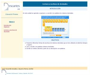 Lectura y escritura de decimales (Descartes)