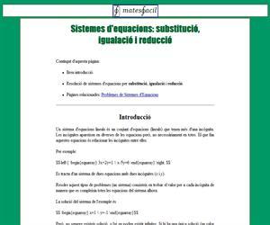 Sistemes d'equacions