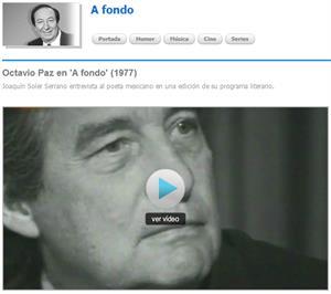 Entrevista a Octavio Paz en 'A fondo' (1977,  RTV.es)