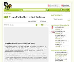 III Congrés ONLINE de l'Observatori de la CiberSocietat (Edu3.cat)