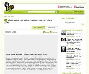 Música popular del Nadal a Catalunya. Convidat: Jaume Ayats (Edu3.cat)