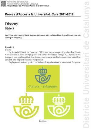 Examen de Selectividad: Diseño. Cataluña. Convocatoria Junio 2012