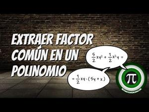Extraer factor común en un polinomio