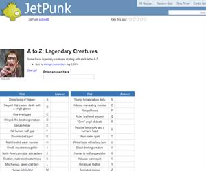 A to Z: Legendary Creatures