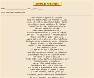 108ª Ficha de ortografía de Don Quijote de la Mancha