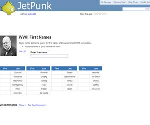 WWII First Names