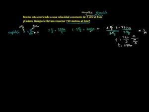 Calculando el tiempo (Khan Academy Español)