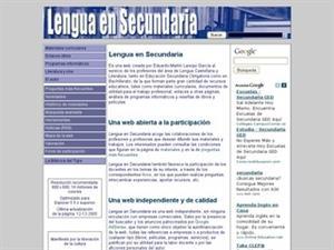 Lenguaensecundaria.com, Lengua y Literatura de Secundaria y Bachillerato