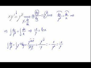 Ecuación diferencial - Variables separables