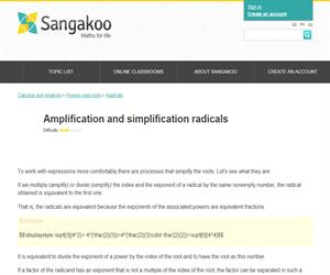 Amplification and simplification radicals