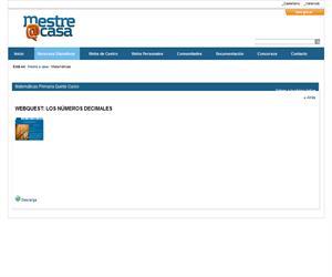 Webquest: los números decimales  (Mestre a Casa)