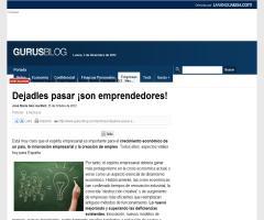 Dejadles pasar: ¡son emprendedores | Gurusblog