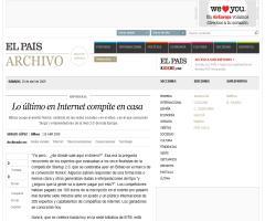 Lo último en Internet compite en casa · ELPAÍS.com
