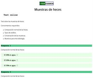 Muestras de heces (test)