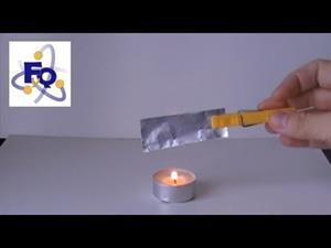 Curiosa dilatación con papel de aluminio (fq-experimentos)