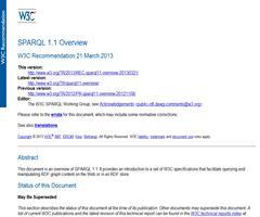 SPARQL 1.1 ya es una recomendación