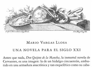 El Quijote: Una novela para el siglo XXI. Mario Vargas LLosa (RAE)
