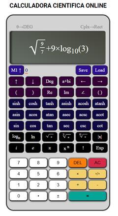 Calculadora cientifica online completa