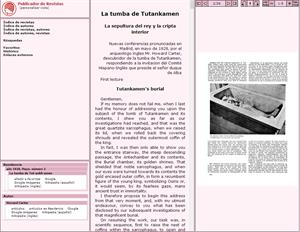 La tumba de Tutankamen. La sepultura del rey y la cripta interior (Revistas de la Edad de Plata)