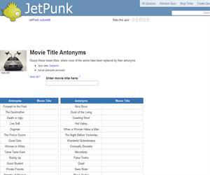 Movie Title Antonyms