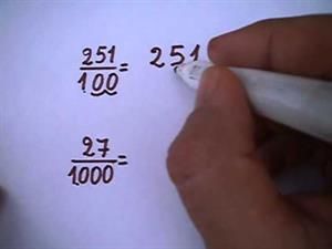 Fracción y número decimal