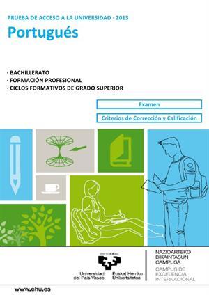 Examen de Selectividad: Portugués. País Vasco. Convocatoria Junio 2013