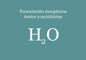 Formulación de óxidos y anhídridos
