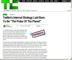 """Twitter's Internal Strategy Laid Bare: To Be """"The Pulse Of The Planet"""""""