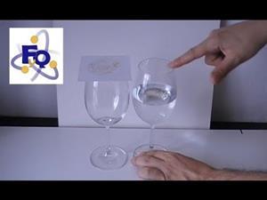 Experimento de física (vibración y ondas): Resonancia con dos copas y arena
