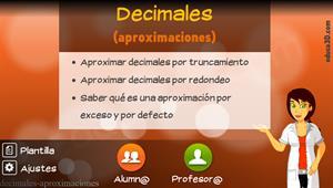 Decimales (aproximaciones) - Unidad interactiva