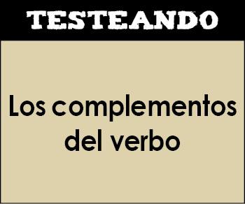 Los complementos del verbo. 1º ESO - Lengua (Testeando)